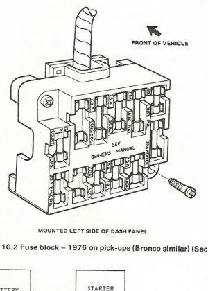 1978 Ford F 150 Fuse Box Diagram | Fuse Box And Wiring Diagram