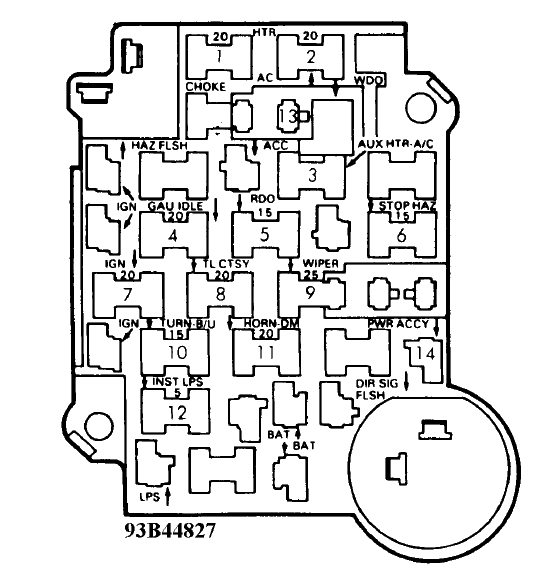 fuse box diagram astra g