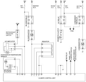 2002 Mazda Protege Hvac System Wiring Diagram with Hvac