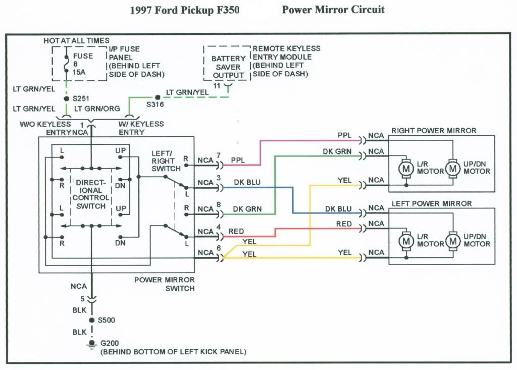 Ford Mirror Switch Wiring - Wiring Diagram