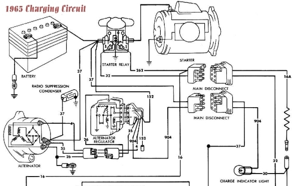 ford alternator wiring schematic   32 wiring diagram