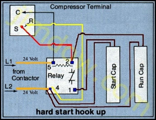 Capacitor Start Motor Wiring Diagram Craftsman : Hp gal craftsman compressor capacitor leads wiring
