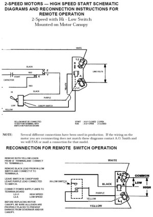 Ao Smith 2 Speed Motor Wiring Diagram | Fuse Box And