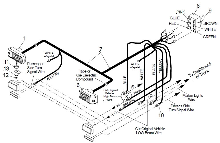 Wiring Harness Dyne1200 also Western Snow Plow Wiring Diagram Unimount together with Western Snow Plow Solenoid Wire Diagram as well Fisher Plow Wiring Diagram Plug Module 4 in addition Western Unimount Wiring Diagram. on western unimount wiring harness