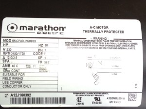 Electric Motor: Marathon Electric Motor