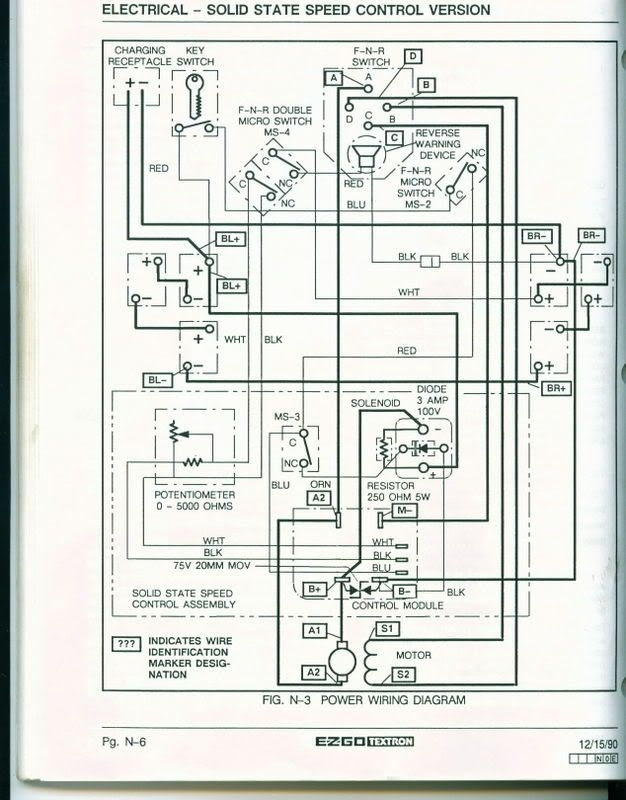 basic ezgo electric golf cart wiring and manuals readingrat regarding ez go gas golf cart wiring diagram ezgo dc s wiring diagram wiring diagram byblank 1990 ezgo marathon wiring diagram at gsmportal.co