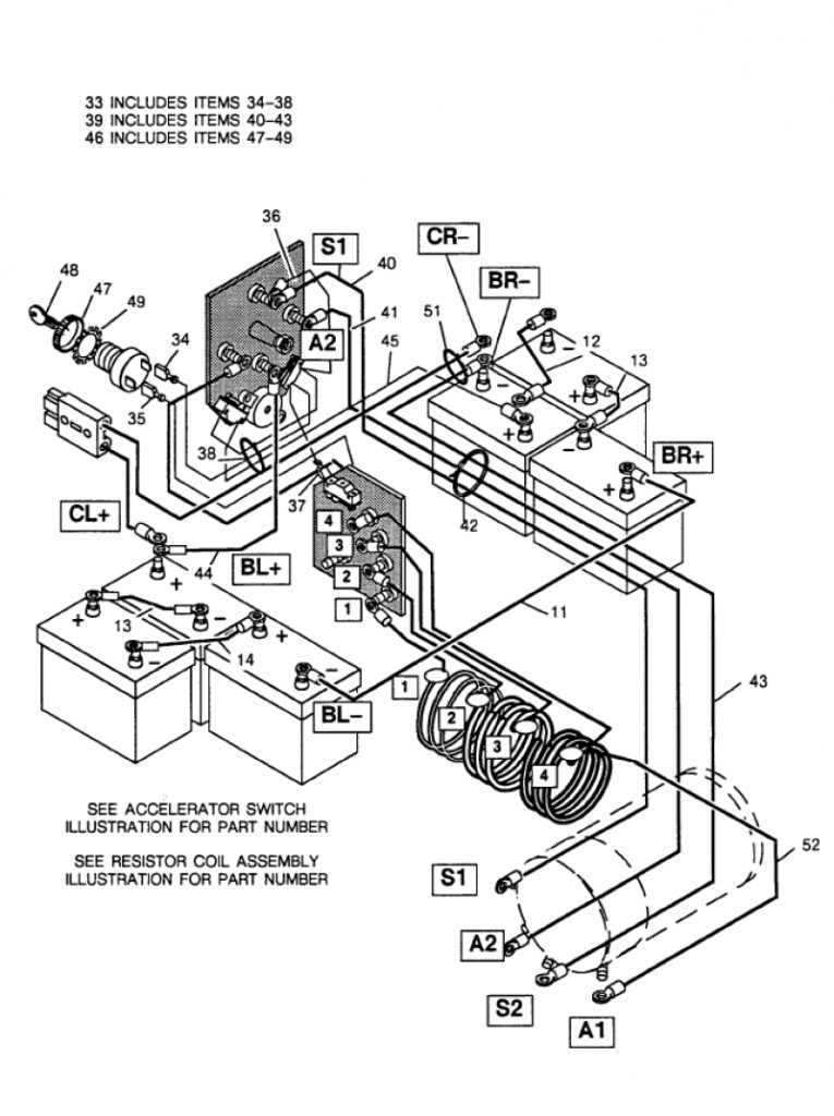 club car wiring diagram 36 volt for basic ezgo electric golf cart in ez go golf cart wiring diagram?resize\=665%2C890\&ssl\=1 20065 ford f650 starter solenoid wiring wiring diagrams harness master wiring systems clark at cos-gaming.co