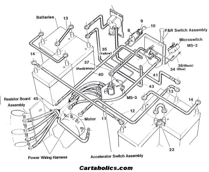 wiring diagram for 1996 ez go golf cart on wiring images free Yamaha Golf Cart Battery Wiring Club Car Golf Cart Wiring Diagram for 1996 1983 western golf cart wiring diagram