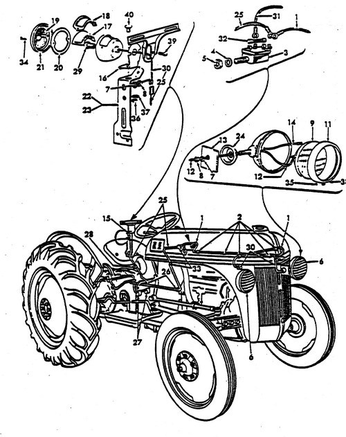 1953 ford jubilee tractor parts