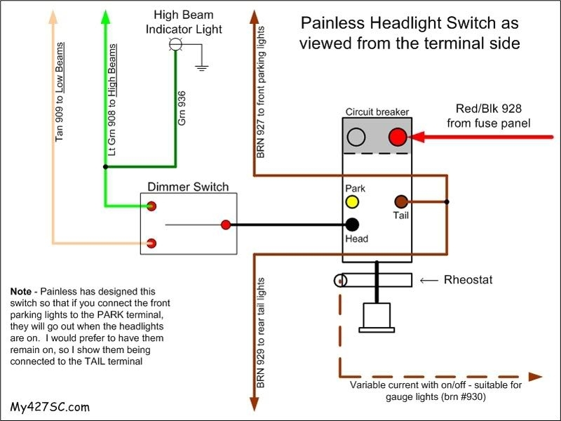 headlight dimmer switch wiring diagram painless headlight switch in headlight dimmer switch wiring diagram?resize\=665%2C499\&ssl\=1 painless wiring diagram wiring diagrams Manual JVC kW Avx840 at bayanpartner.co
