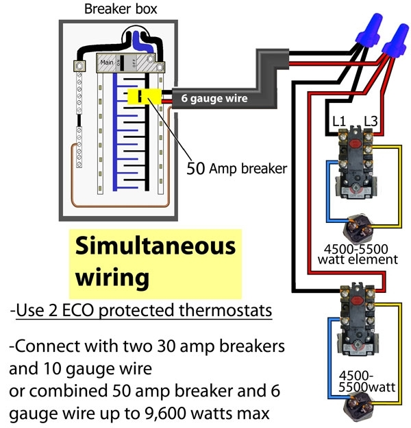 Hot Water Heater Element Wiring Diagram. Water Heater Tank, Water ...
