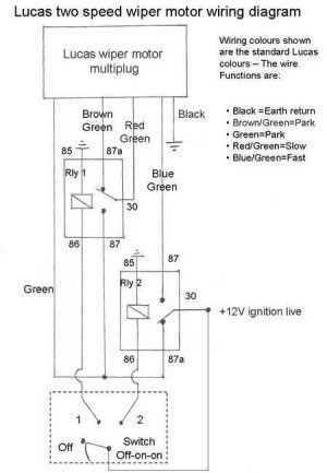 Lucas Dr3 Wiper Motor Wiring Diagram | Fuse Box And Wiring
