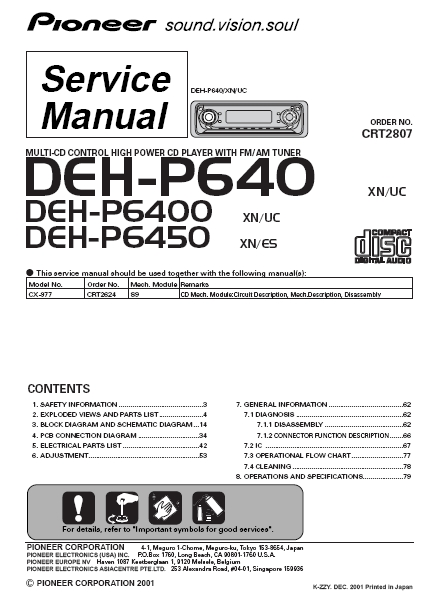 Attractive Pioneer Deh P6400 Wiring Diagram Adornment - Electrical ...