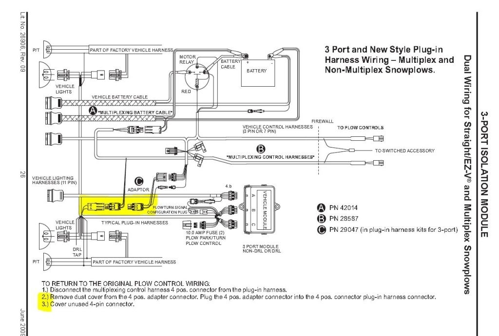 boss rt3 v plow wiring diagram  schematic diagram