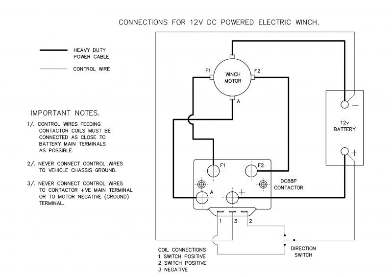 12v Winch Solenoid Wiring Diagram - Wiring Diagram