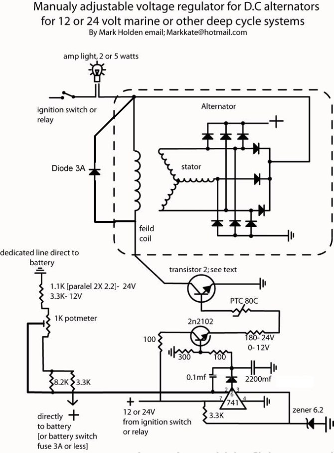 diagram wiring diagram for alternator with external voltage
