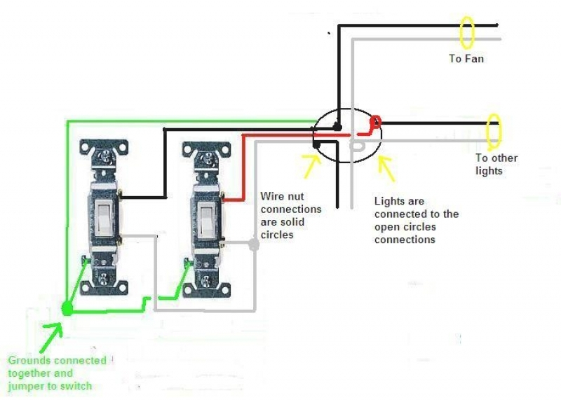 Beautiful Dual Switch Light Wiring Ideas - Electrical and Wiring .
