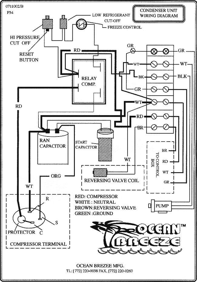 Rooftop Unit Wiring Schematic on trane heat pump capacitor