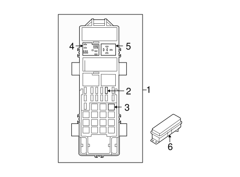 Ford Aerostar Second Generation Fuse Box Diagram