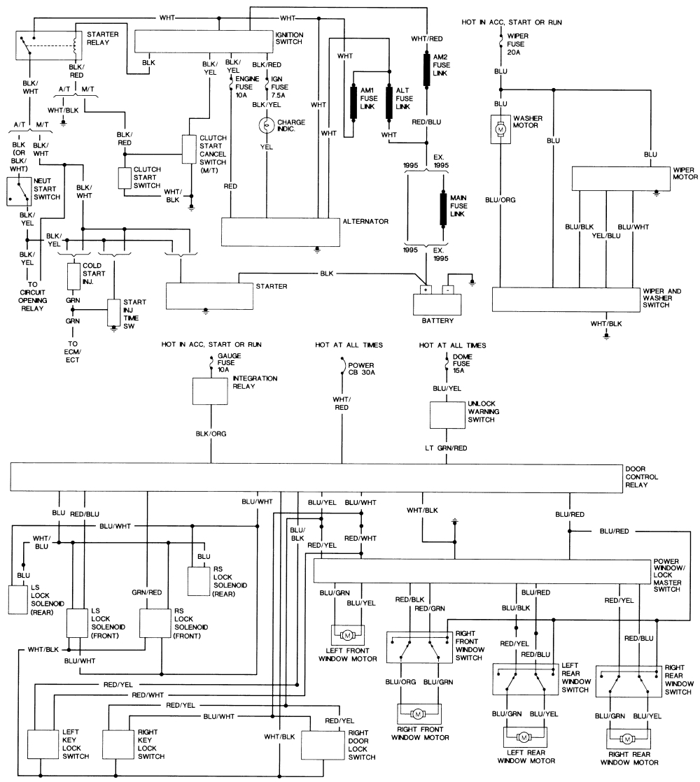 1986 Toyota Camry Fuse Diagram Wiring Library 1jz Gte Engine Vacuum 92 Transmission Diagrams 1995 Distburter