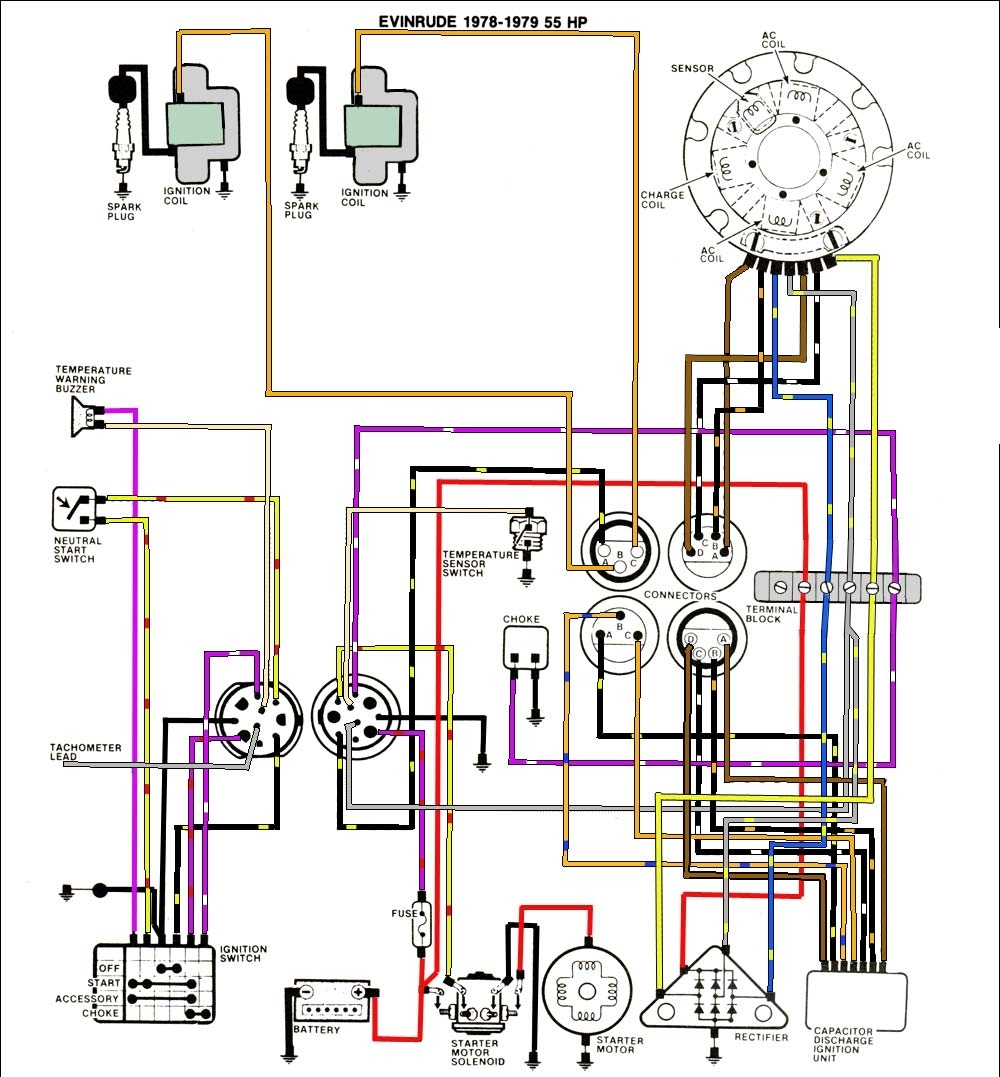 Johnson Outboard Tach Wiring Diagram - Wiring Diagram