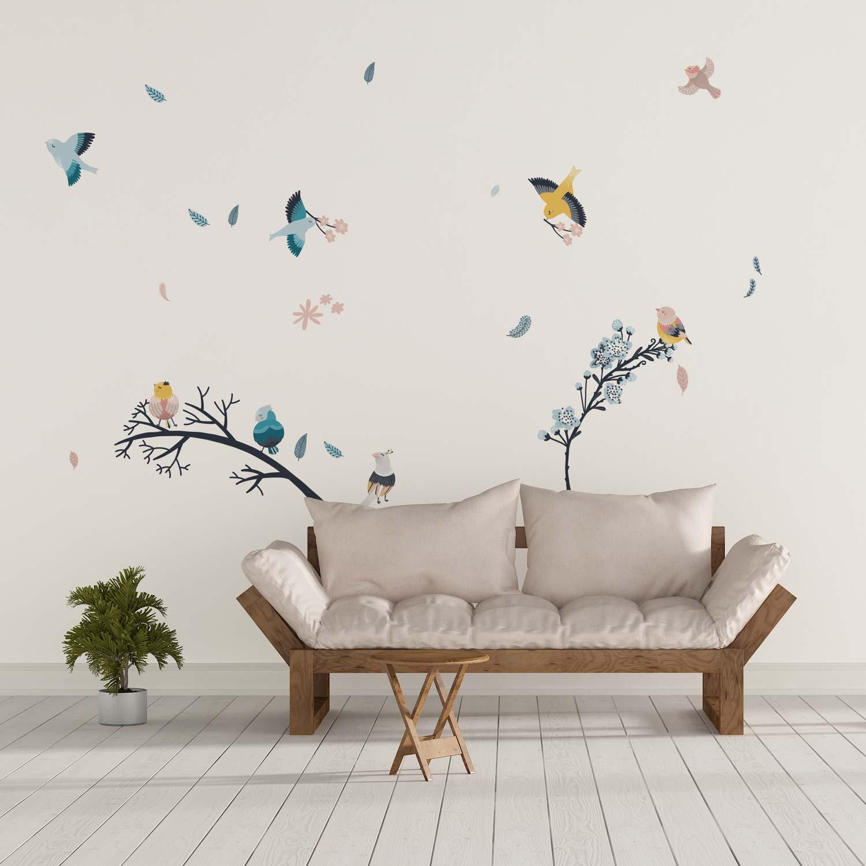 sticker mural oiseaux nature