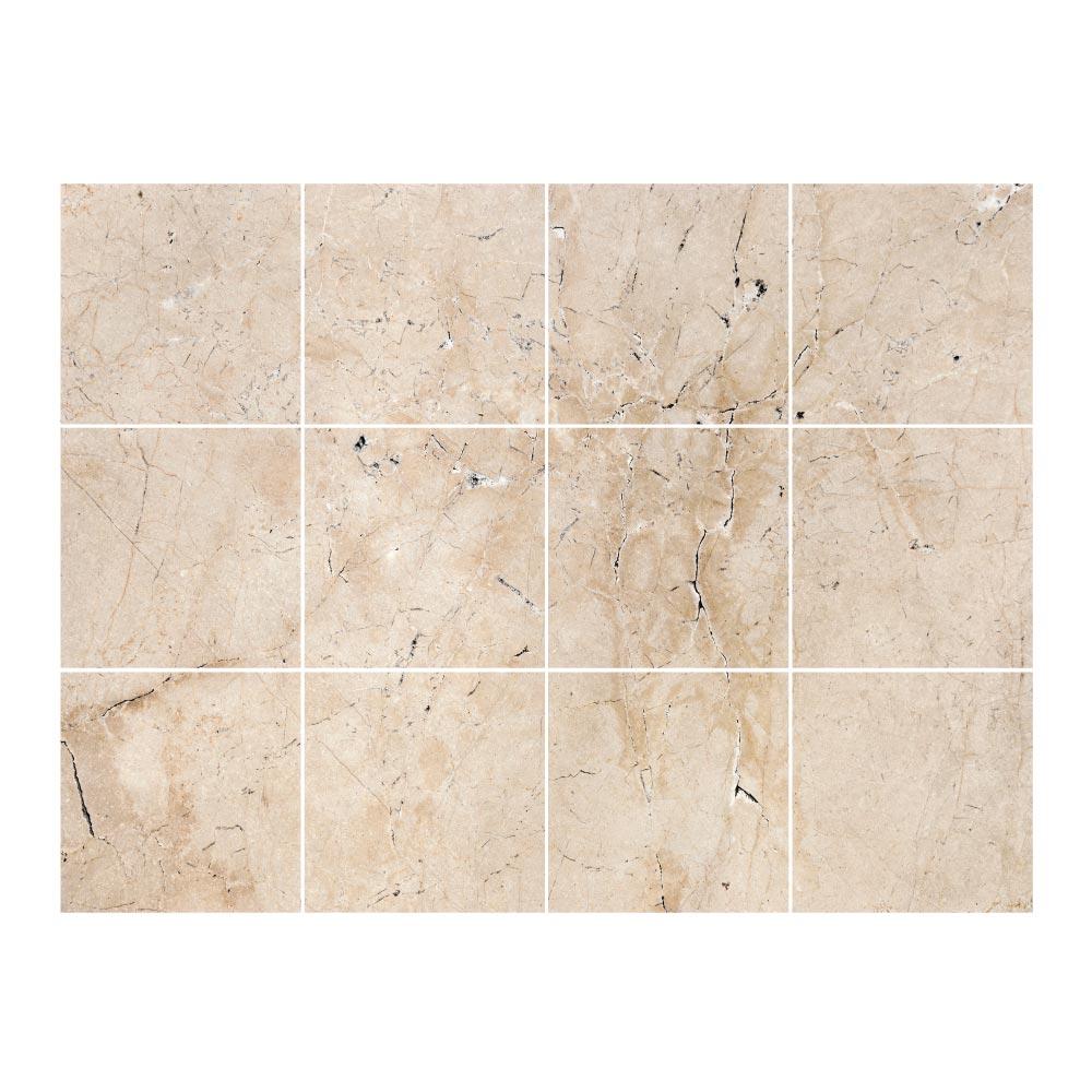 stickers carrelage marbre beige