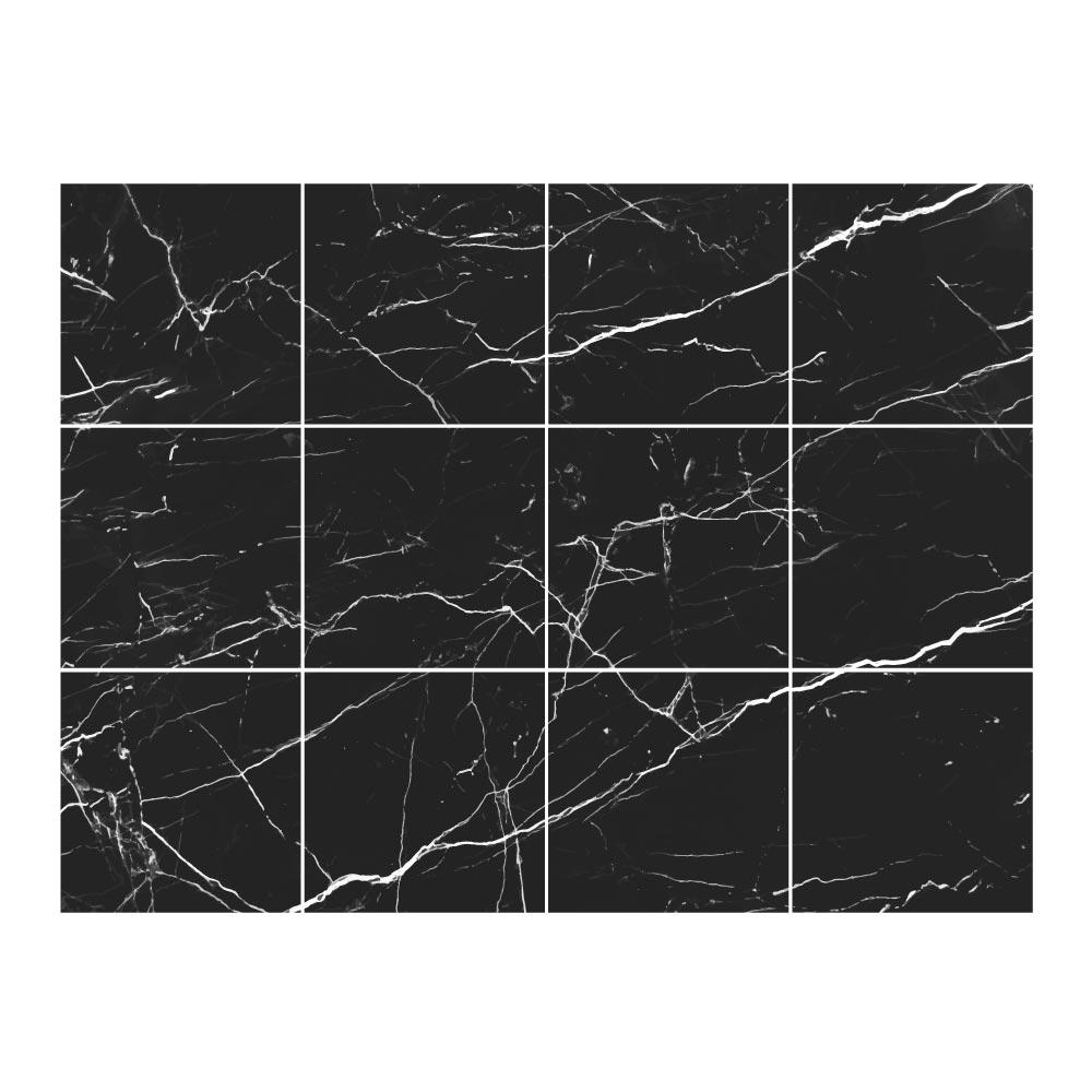 stickers carrelage marbre noir electrique