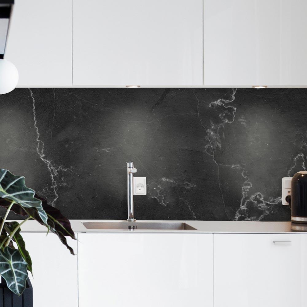 credence adhesive marbre noir