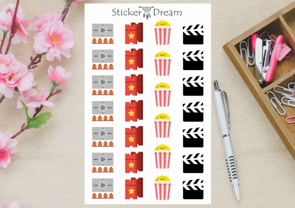 Sticker Dream - Cartela Vamos ao Cinema