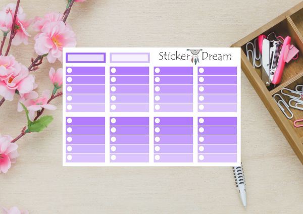 Sticker Dream - Full Box My Planner Roxo