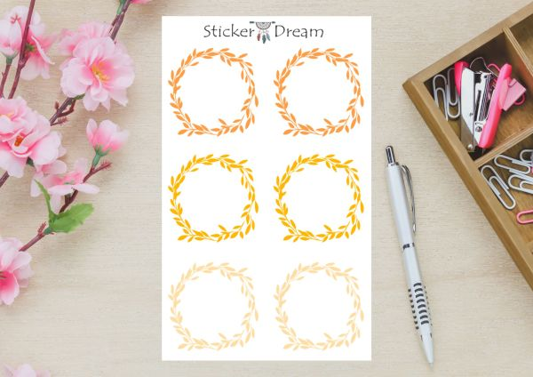 Sticker Dream - Cartela Folhagem Golden