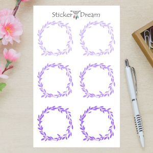 Sticker Dream - Cartela Folhagem Purple