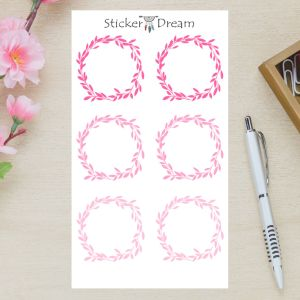 Sticker Dream - Cartela Folhagem Pink