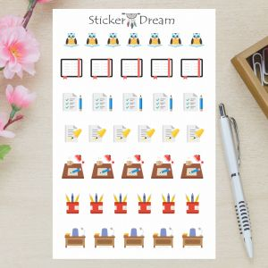 Sticker Dream - Cartela Estudos