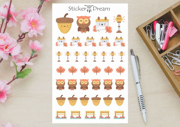 Sticker Dream - Cartela Outono