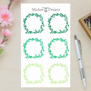 Sticker Dream - Cartela Folhagem Verde