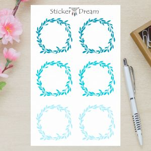 Sticker Dream - Cartela Folhagem Azul