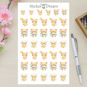 Sticker Dream - Cartela Kitty Tempo