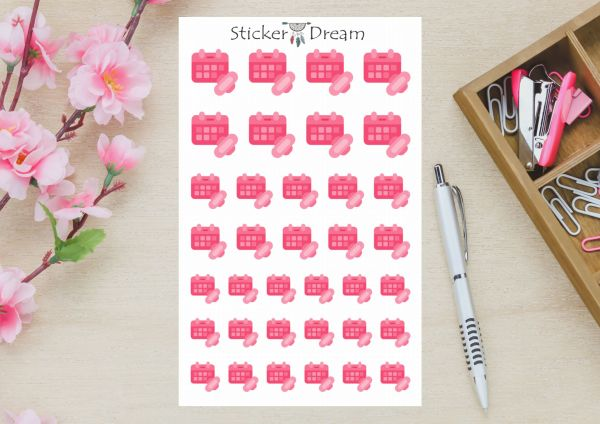 Sticker Dream - Cartela Controle Mestrual