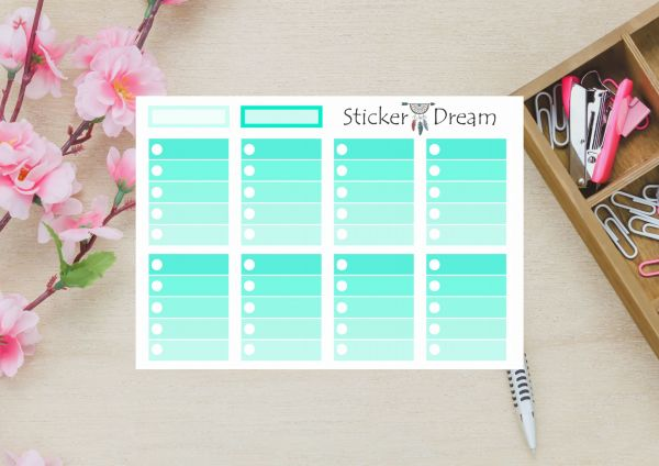 Sticker Dream - Cartela Full Box Enjoy Print Aqua