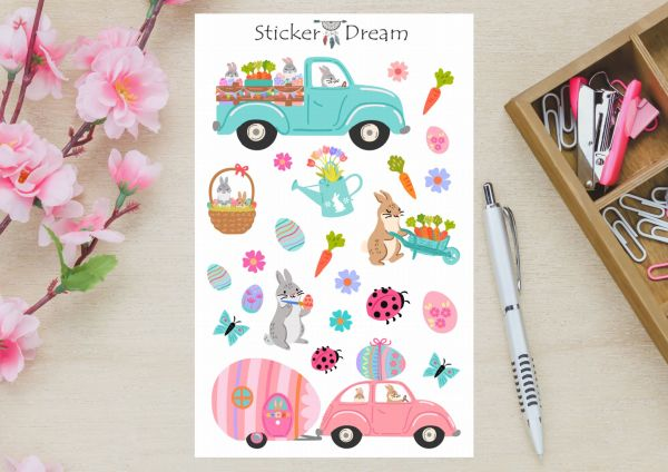 Sticker Dream - Cartela de Páscoa