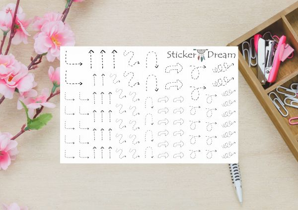 Sticker Dream - Cartela Super Setas