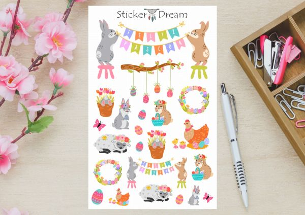 Sticker Dream - Cartela Feliz Páscoa