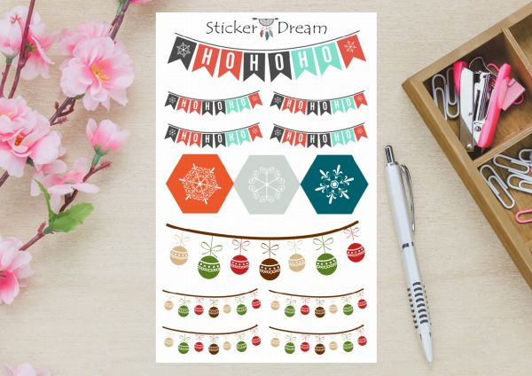 Sticker Dream - Cartela Ho Ho Ho