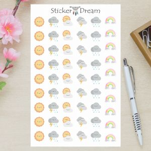 Sticker Dream - Cartela Clima e Tempo