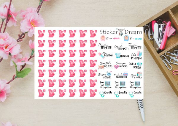 Sticker Dream - Cartela Super Gravidez