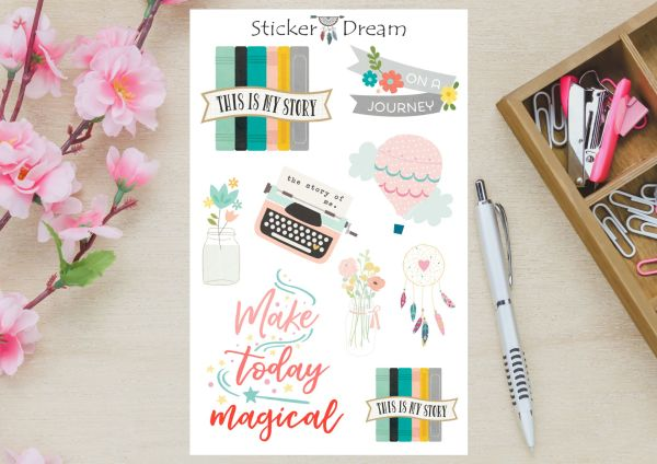 Sticker Dream - Cartela Make Today Magical