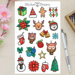 Sticker Dream - Cartela Natal