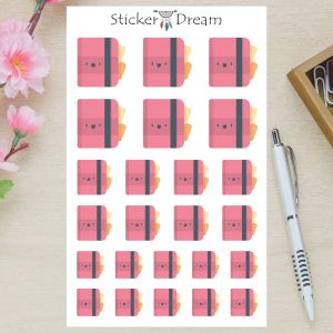 Sticker Dream - Cartela Cadernos